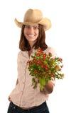 όμορφη γυναίκα καπέλων λο& Στοκ φωτογραφία με δικαίωμα ελεύθερης χρήσης