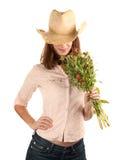 όμορφη γυναίκα καπέλων λο& Στοκ φωτογραφίες με δικαίωμα ελεύθερης χρήσης