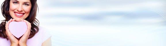 όμορφη γυναίκα καρδιών Στοκ εικόνες με δικαίωμα ελεύθερης χρήσης
