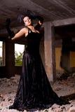 όμορφη γυναίκα καταστροφών Στοκ φωτογραφία με δικαίωμα ελεύθερης χρήσης