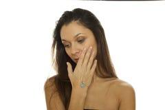 όμορφη γυναίκα κοσμήματο&sig Στοκ φωτογραφίες με δικαίωμα ελεύθερης χρήσης