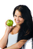 όμορφη γυναίκα μήλων Στοκ φωτογραφία με δικαίωμα ελεύθερης χρήσης
