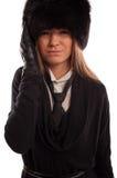 Όμορφη γυναίκα με έναν πονοκέφαλο Στοκ Εικόνα