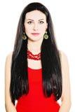 Όμορφη γυναίκα με μακρυμάλλες και τέλειο Makeup στοκ φωτογραφίες