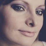 Όμορφη γυναίκα με τα ανοικτά μάτια Στοκ εικόνα με δικαίωμα ελεύθερης χρήσης