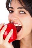 Mmm, η νόστιμη κόκκινη Apple Στοκ φωτογραφία με δικαίωμα ελεύθερης χρήσης