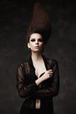 Όμορφη γυναίκα με το cretive hairstyle Στοκ εικόνα με δικαίωμα ελεύθερης χρήσης