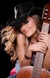 όμορφη γυναίκα μουσικής Στοκ Εικόνες
