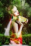 Όμορφη γυναίκα νεράιδων Στοκ φωτογραφία με δικαίωμα ελεύθερης χρήσης