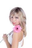 όμορφη γυναίκα ξανθών μαλλ&i στοκ φωτογραφίες