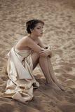 όμορφη γυναίκα παραλιών στοκ εικόνες με δικαίωμα ελεύθερης χρήσης