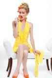 όμορφη γυναίκα πιπεριών Στοκ εικόνες με δικαίωμα ελεύθερης χρήσης