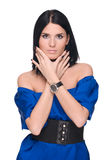 όμορφη γυναίκα πορτρέτου μ Στοκ εικόνες με δικαίωμα ελεύθερης χρήσης