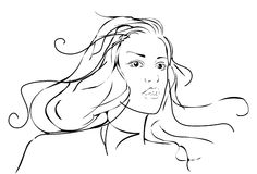 όμορφη γυναίκα πορτρέτου Στοκ Φωτογραφία