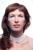 όμορφη γυναίκα πορτρέτου Στοκ Εικόνες