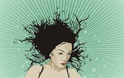 όμορφη γυναίκα πορτρέτου Διανυσματική απεικόνιση