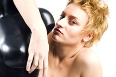 όμορφη γυναίκα πορτρέτου Στοκ Εικόνα