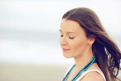 όμορφη γυναίκα πορτρέτου brun Στοκ εικόνες με δικαίωμα ελεύθερης χρήσης