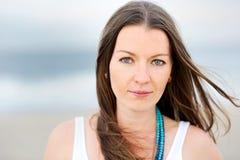 όμορφη γυναίκα πορτρέτου brun Στοκ εικόνα με δικαίωμα ελεύθερης χρήσης