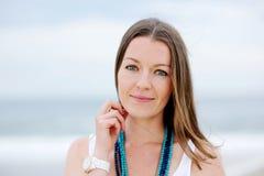 όμορφη γυναίκα πορτρέτου brun Στοκ Φωτογραφίες