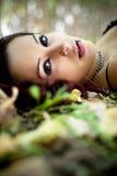όμορφη γυναίκα πορτρέτου redh στοκ εικόνα