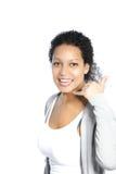 Όμορφη γυναίκα που κάνει μια κλήση μου χειρονομία στοκ εικόνες με δικαίωμα ελεύθερης χρήσης