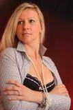 Όμορφη γυναίκα που κοιτάζει μακριά Στοκ εικόνα με δικαίωμα ελεύθερης χρήσης