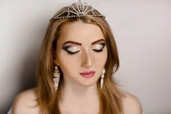 Όμορφη γυναίκα πριγκηπισσών Στοκ Φωτογραφία