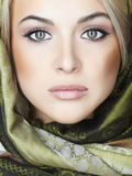 όμορφη γυναίκα προσώπου Αποτελέστε την έννοια Στοκ Εικόνες