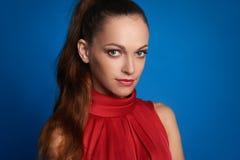 όμορφη γυναίκα προσώπου Πορτρέτο του όμορφου κοριτσιού Στοκ φωτογραφία με δικαίωμα ελεύθερης χρήσης