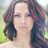 όμορφη γυναίκα προσώπου τέλειο δέρμα Στοκ Φωτογραφίες