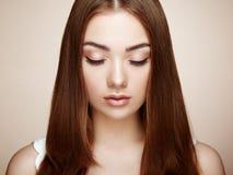 όμορφη γυναίκα προσώπου Τέλειο Makeup Στοκ εικόνα με δικαίωμα ελεύθερης χρήσης