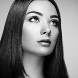 όμορφη γυναίκα προσώπου Τέλειο Makeup Στοκ Εικόνες