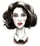 όμορφη γυναίκα σκίτσων στοκ εικόνα με δικαίωμα ελεύθερης χρήσης