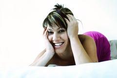 όμορφη γυναίκα σπορείων Στοκ φωτογραφία με δικαίωμα ελεύθερης χρήσης