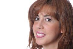 Όμορφη γυναίκα στην άσπρη ανασκόπηση Στοκ εικόνες με δικαίωμα ελεύθερης χρήσης