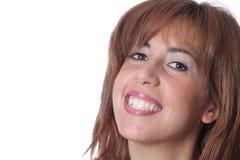 Όμορφη γυναίκα στην άσπρη ανασκόπηση Στοκ φωτογραφίες με δικαίωμα ελεύθερης χρήσης
