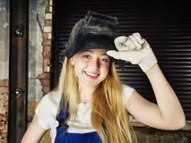 Όμορφη γυναίκα στον οξυγονοκολλητή Στοκ φωτογραφίες με δικαίωμα ελεύθερης χρήσης