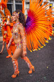 Όμορφη γυναίκα στο Νότινγκ Χιλ καρναβάλι Στοκ Εικόνες