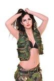 όμορφη γυναίκα στρατού Στοκ εικόνα με δικαίωμα ελεύθερης χρήσης