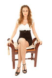 όμορφη γυναίκα συνεδρίασ& Στοκ εικόνες με δικαίωμα ελεύθερης χρήσης