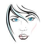 όμορφη γυναίκα τριχωμάτων μό&d Στοκ Εικόνες