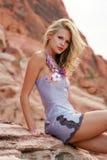 όμορφη γυναίκα φορεμάτων Στοκ Εικόνα