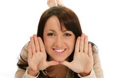 όμορφη γυναίκα χεριών προσώ Στοκ φωτογραφίες με δικαίωμα ελεύθερης χρήσης