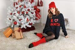 όμορφη γυναίκα όπως η ανασκόπηση είναι μπορεί θέμα απεικόνισης Χριστουγέννων χρησιμοποιούμενο Στοκ φωτογραφία με δικαίωμα ελεύθερης χρήσης