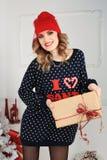όμορφη γυναίκα όπως η ανασκόπηση είναι μπορεί θέμα απεικόνισης Χριστουγέννων χρησιμοποιούμενο στοκ φωτογραφίες