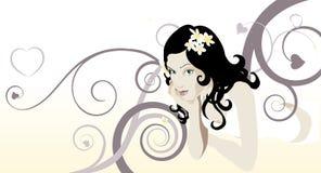 όμορφη γυναίκα ελεύθερη απεικόνιση δικαιώματος