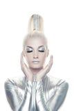 όμορφη γυναίκα cyber Στοκ εικόνες με δικαίωμα ελεύθερης χρήσης