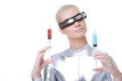όμορφη γυναίκα cyber Στοκ φωτογραφία με δικαίωμα ελεύθερης χρήσης