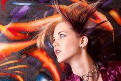 όμορφη γυναίκα headshot Στοκ εικόνες με δικαίωμα ελεύθερης χρήσης